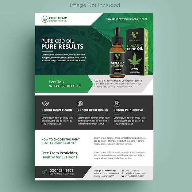 Hemp product flyer Premium Psd