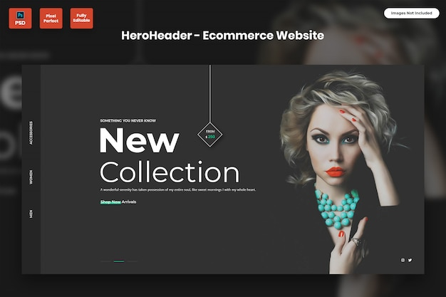 Hero header для сайтов электронной коммерции Premium Psd