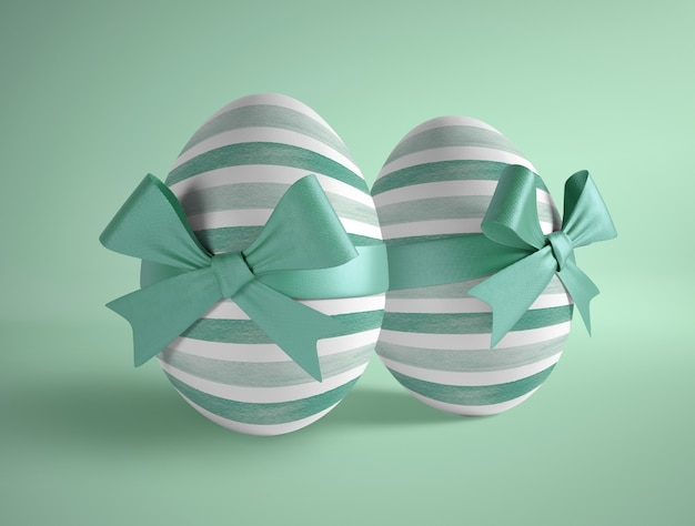 High angle two eggs wrapped Free Psd