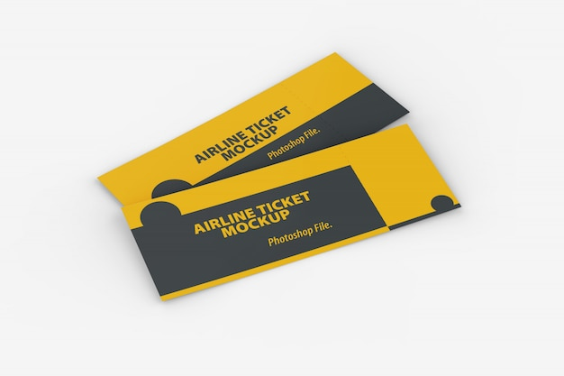 High angle view of airline ticket mockup Premium Psd