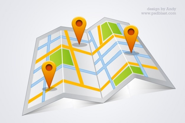 high resolution google map psd Free Psd