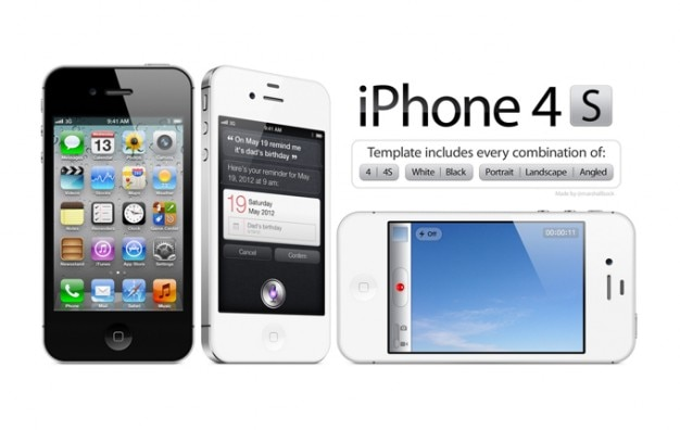 High Resolution iPhone 4/4S PSD Template PSD file | Free ...Iphone 4 Template