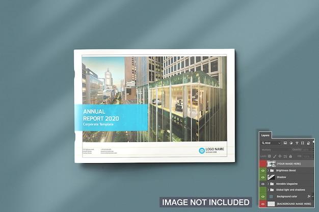 닫힌 풍경 잡지 이랑의 높은보기 무료 PSD 파일