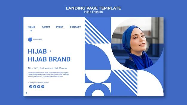 Hijab fashion web template Free Psd