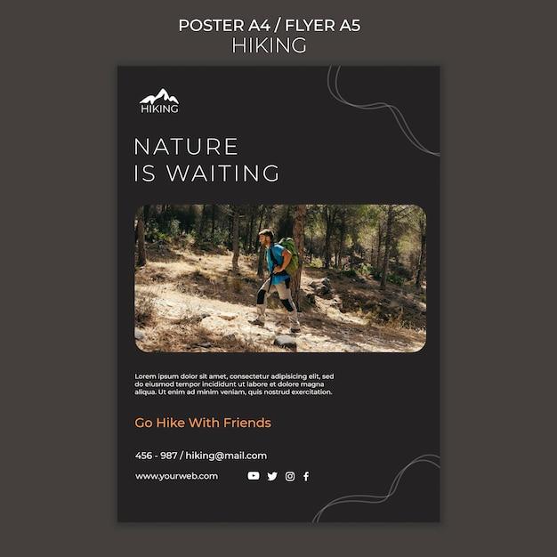 하이킹 광고 템플릿 포스터 무료 PSD 파일