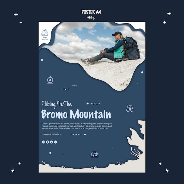 Escursionismo avventura in stile poster Psd Gratuite