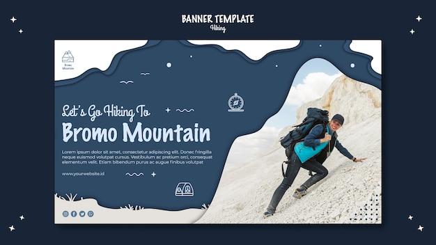 Modello di banner concetto escursionismo Psd Gratuite