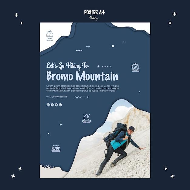 Escursionismo concept design poster Psd Gratuite