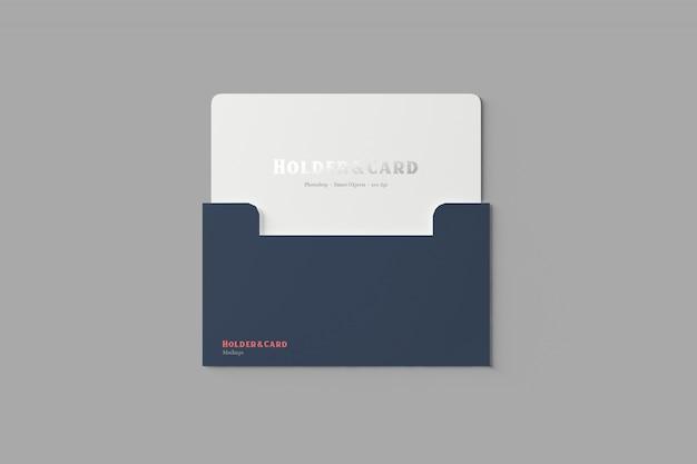 Holder and card mockup Premium Psd