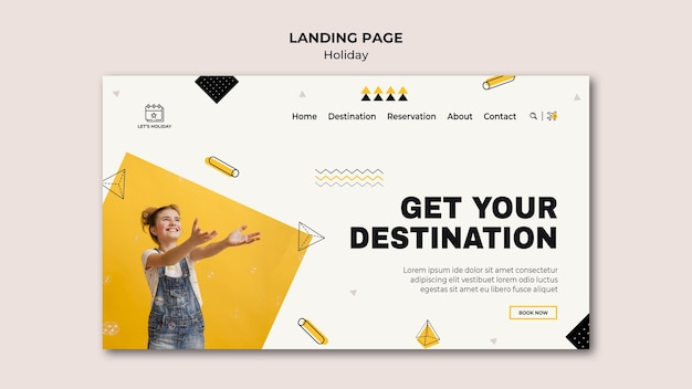 Holiday party landing page template Premium Psd