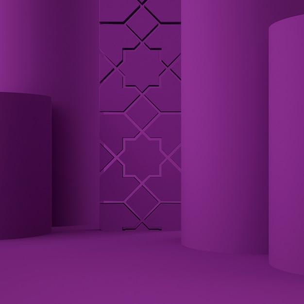 배경 및 편집 가능한 색상으로 제품 배치를위한 홀로그램 3d 기하학적 스테이지 프리미엄 PSD 파일