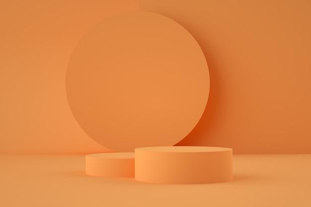 제품 배치를위한 홀로그램 3d 기하학적 스테이지 프리미엄 PSD 파일