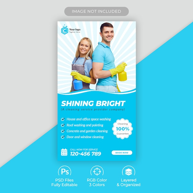 Home cleaning service instagram story template Premium Psd