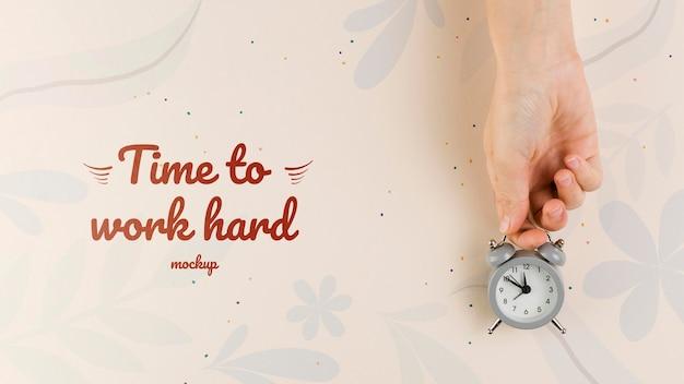 Concetto del ministero degli interni con l'orologio Psd Gratuite