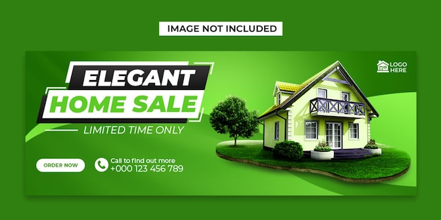 Home sale social media and facebook cover post template Premium Psd