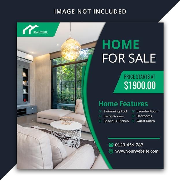 Home for sale social media template design Premium Psd