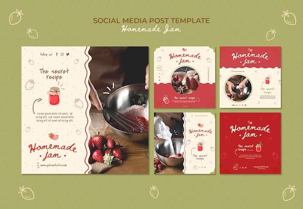 Шаблон сообщения в социальных сетях домашнее варенье Premium Psd