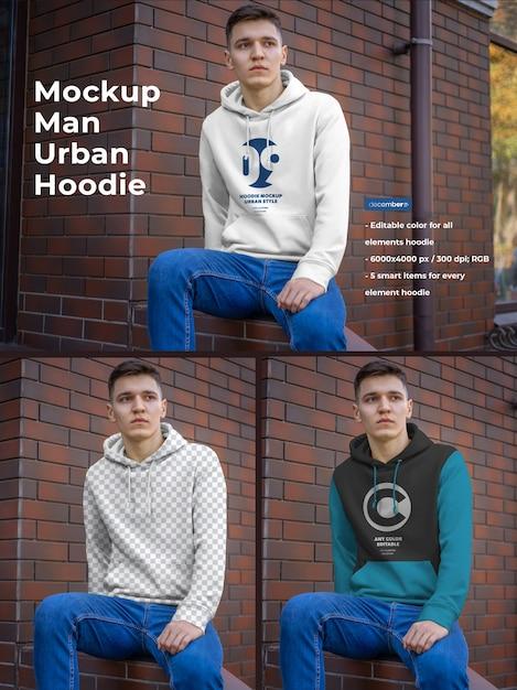 Hoodie mockup for men Premium Psd