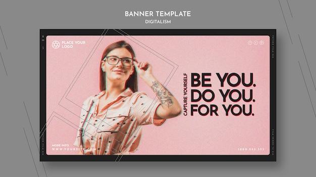 Banner orizzontale per catturare te stesso tema Psd Gratuite
