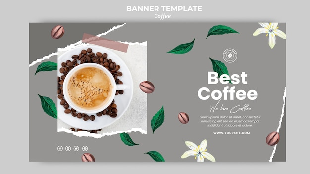 Banner orizzontale per caffè Psd Gratuite