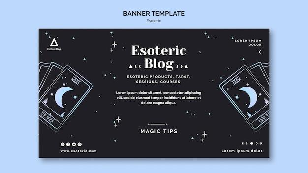 Horizontal banner for esoteric blog Free Psd