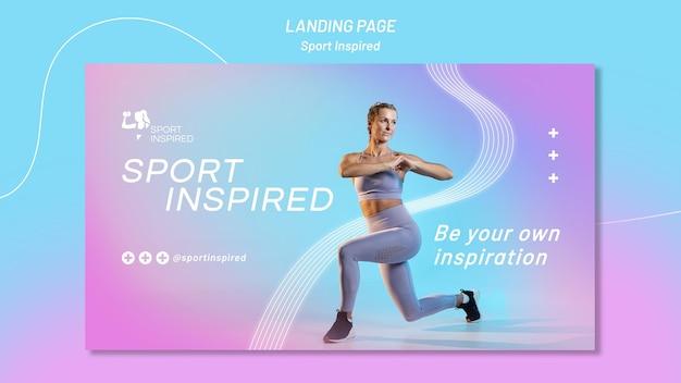 Горизонтальный баннер для фитнес-тренировки Бесплатные Psd