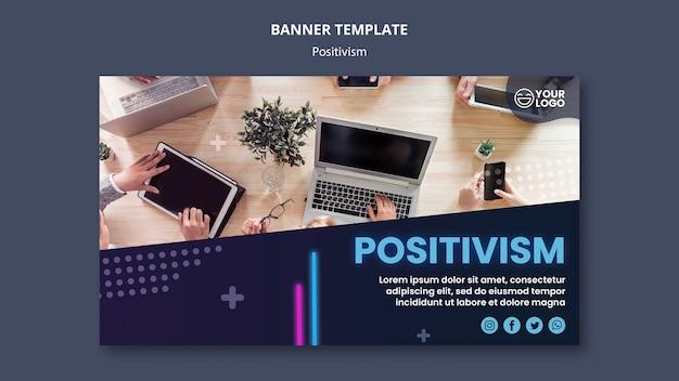 Горизонтальный баннер для оптимизма и позитивизма Бесплатные Psd