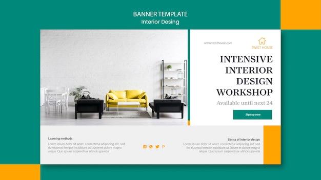 Banner orizzontale per l'interior design Psd Gratuite