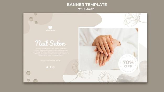 Banner orizzontale per salone di bellezza Psd Gratuite
