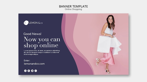 Horizontal banner for online fashion sale Free Psd