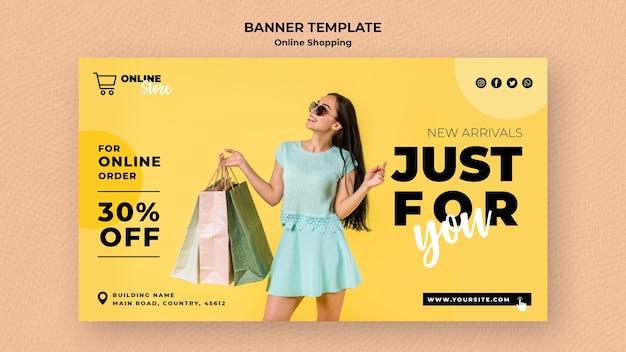 Banner orizzontale per la vendita di moda online Psd Gratuite
