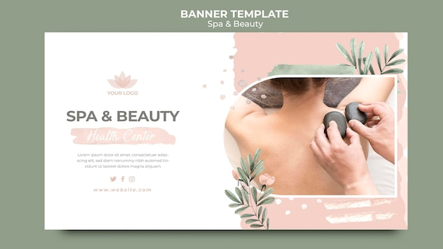 Horizontal banner for spa therapy Free Psd