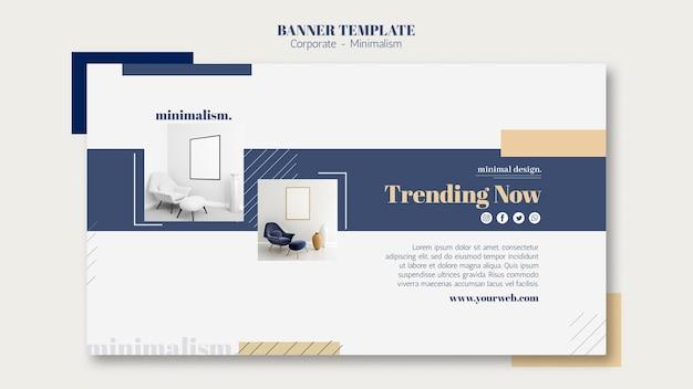 Modello di banner orizzontale per l'interior design Psd Gratuite