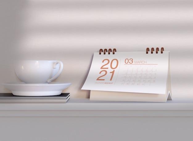 Horizontal calendar mockup Premium Psd