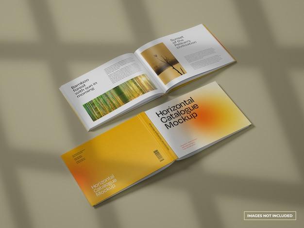 수평 카탈로그 모형 프리미엄 PSD 파일