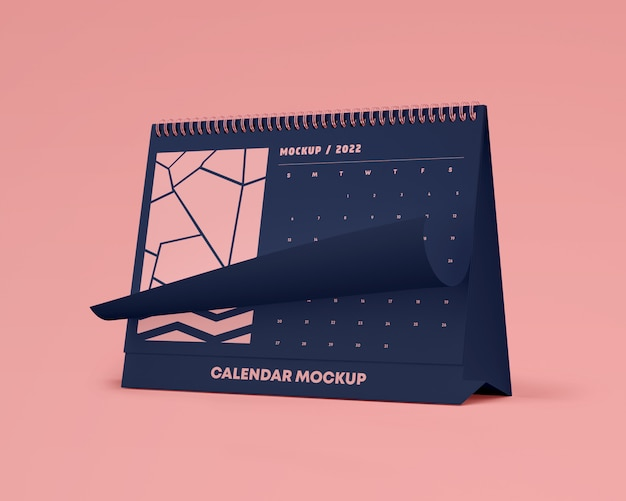 Horizontal desk calendar mockup Premium Psd