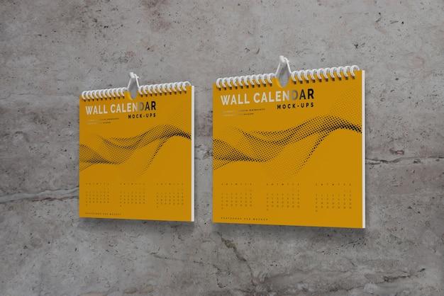 Horizontal wall calendar mockup Free Psd