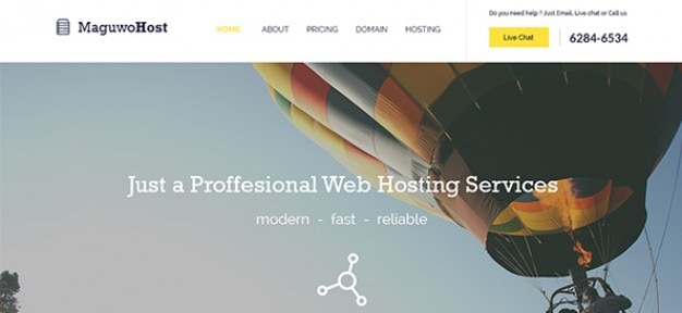 Hosting web elements template Free Psd