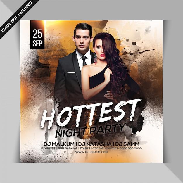 Hot night party flyer Premium Psd