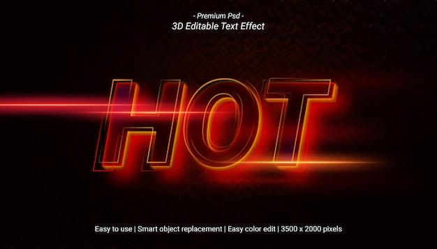 핫 텍스트 효과 템플릿 디자인 프리미엄 PSD 파일