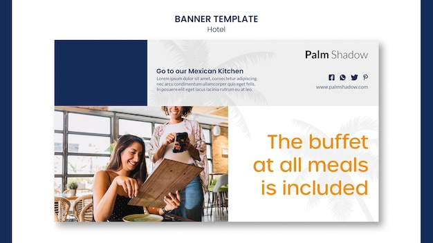Hotel promo template banner Free Psd