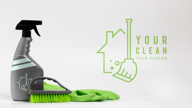 House cleaning products and equipment Free Psd