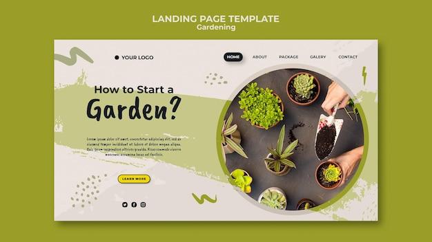 ガーデンランディングページテンプレートを開始する方法 無料 Psd