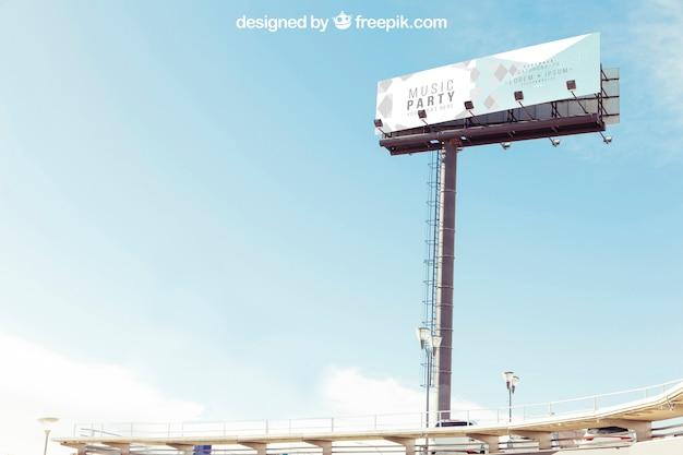 거대한 광고판 모형 무료 PSD 파일