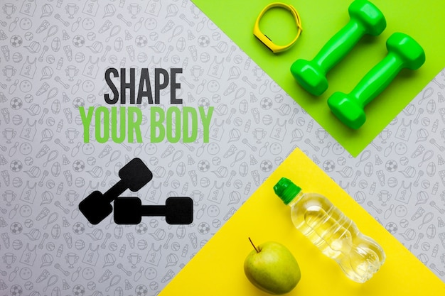 Hydration and fitness class equipment Free Psd