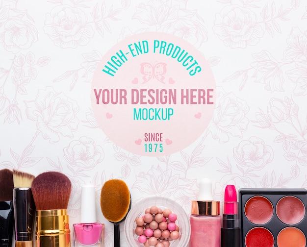 衛生と美容のコンセプトのモックアップ 無料 Psd
