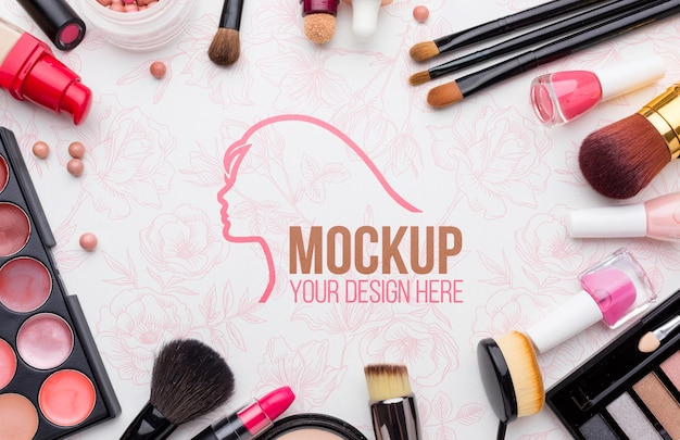 Hygiene and beauty concept mock-up Free Psd
