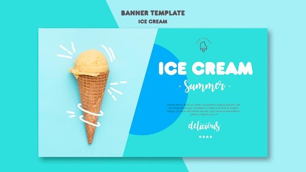 Шаблон баннера мороженого Бесплатные Psd