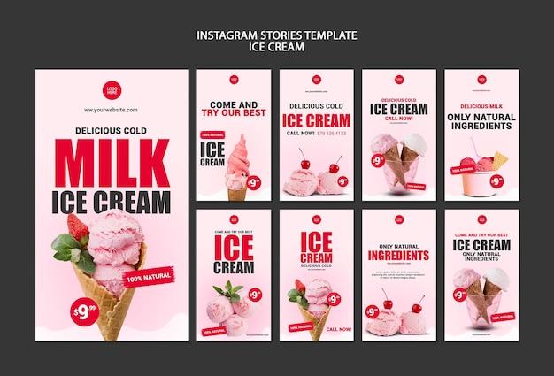Modello di storie di instagram di gelateria Psd Gratuite