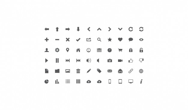 icon set lignt icon set ui icon psd file